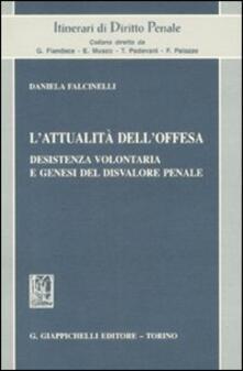 L attualità delloffesa. Desistenza volontaria e genesi del disvalore penale.pdf