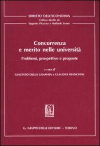 Foto Cover di Concorrenza e merito nelle università. Problemi, prospettive e proposte, Libro di  edito da Giappichelli