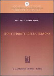 Libro Sport e diritti della persona Annamaria Giulia Parisi