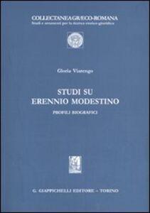 Foto Cover di Studi su Erennio Modestino. Profili biografici, Libro di Gloria Viarengo, edito da Giappichelli