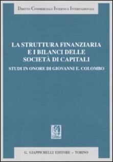 Radiospeed.it La struttura finanziaria e i bilanci delle società di capitali. Studi in onore di Giovanni E. Colombo Image