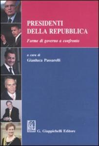 Presidenti della Repubblica. Forme di governo a confronto - copertina