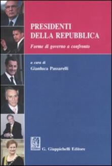 Parcoarenas.it Presidenti della Repubblica. Forme di governo a confronto Image