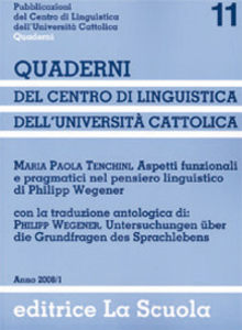 Libro Aspetti funzionali e pragmatici nel pensiero linguistico di Philipp Wegener M. Paola Tenchini