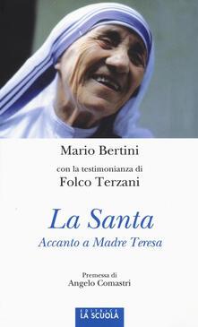 La santa. Accanto a Madre Teresa. Ediz. illustrata - Mario Bertini,Folco Terzani - copertina