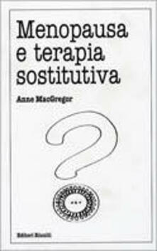 Ristorantezintonio.it Menopausa e terapia sostitutiva Image