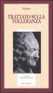 Foto Cover di Trattato sulla tolleranza, Libro di Voltaire, edito da Editori Riuniti
