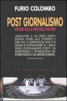 Ristorantezintonio.it Post giornalismo. Notizie sulla fine delle notizie Image