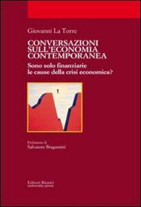 Libro Conversazioni sull'economia contemporanea Giovanni La Torre