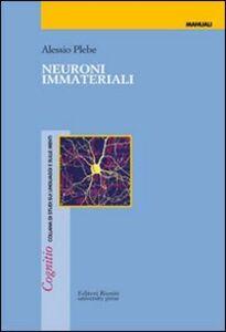 Libro Neuroni immateriali Alessio Plebe