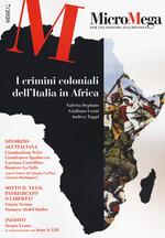 Micromega (2020). Vol. 7: crimini coloniali dell'Italia in Africa, I.