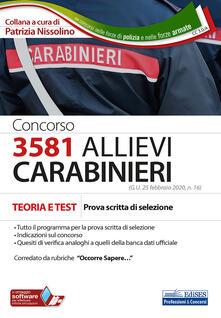 Ipabsantonioabatetrino.it Concorso 3581 allievi carabinieri. Teoria e test. Prova scritta di selezione. Con software di simulazione Image