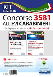 Ilmeglio-delweb.it Concorso 3581 allievi carabinieri. Per la preparazione a tutte le fasi concorsuali. Kit completo. Con software di simulazione Image