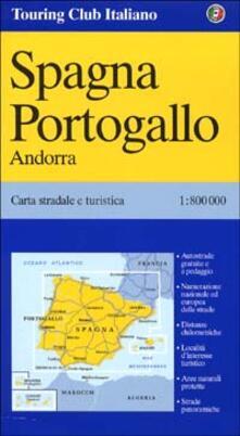 Grandtoureventi.it Spagna. Portogallo 1:800.000 Image