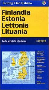 Finlandia, Estonia, Lettonia, Lituania 1:800.000 - copertina