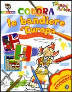 Foto Cover di Colora le bandiere d'Europa. Con stickers, Libro di  edito da Touring Junior