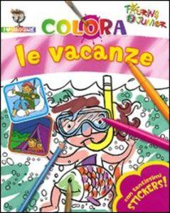 Libro Colora le vacanze. Con stickers