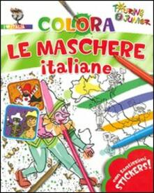 Premioquesti.it Colora le maschere italiane. Con adesivi. Ediz. illustrata Image
