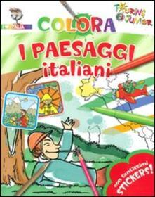 Mercatinidinataletorino.it Colora i paesaggi italiani. Con stickers. Ediz. illustrata Image