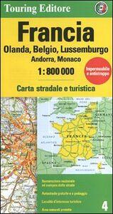 Libro Francia. Olanda, Belgio, Lussemburgo, Andorra, Monaco 1:800.000