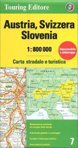 Libro Austria, Svizzera, Slovenia 1:800.000. Carta stradale e turistica