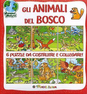 Foto Cover di Gli animali del bosco. Libro puzzle, Libro di Irene Mazza, edito da Touring Junior