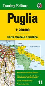 Libro Puglia 1:200.000. Carta stradale e turistica. Ediz. multilingue