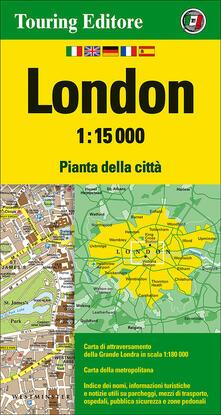 Antondemarirreguera.es London 1:15.000. Pianta della città. Ediz. multilingue Image