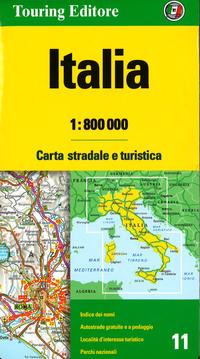 ITALIA 1:800.000. CARTA STRADALE E TURIS