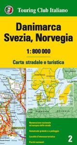 Foto Cover di Danimarca, Svezia, Norvegia 1:800.000. Carta stradale e turistica. Ediz. multilingue, Libro di  edito da Touring