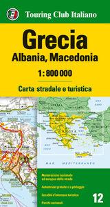 Libro Grecia, Albania, Macedonia 1:800.000. Carta stradale e turistica. Ediz. multilingue