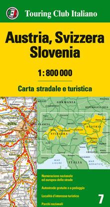 Listadelpopolo.it Austria, Svizzera, Slovenia 1:800.000. Carta stradale e turistica. Ediz. multilingue Image