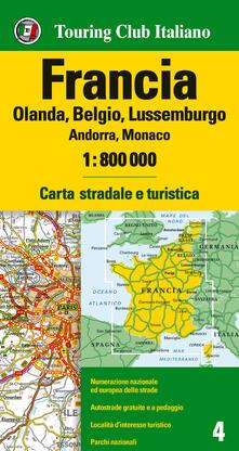 Voluntariadobaleares2014.es Francia. Olanda, Belgio, Lussemburgo, Andorra, Monaco 1:800.000. Ediz. multilingue Image