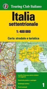 Foto Cover di Italia settentrionale 1:400.000. Carta stradale e turistica, Libro di  edito da Touring