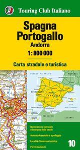 Foto Cover di Spagna, Portogallo, Andorra 1:800.000. Carta stradale e turistica. Ediz. multilingue, Libro di  edito da Touring