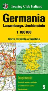 Libro Germania, Lussemburgo, Liechtenstein 1:800.000. Carta stradale e turistica. Ediz. multilingue