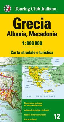 Winniearcher.com Grecia, Albania, Macedonia 1:800.000. Carta stradale e turistica. Ediz. multilingue Image