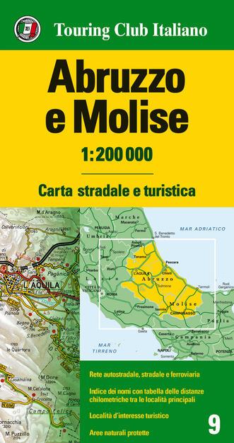 Molise Cartina Geografica Dettagliata.Abruzzo E Molise 1 200 000 Carta Stradale E Turistica Ediz Multilingue Libro Touring Carte Regionali 1 200 000 Ibs