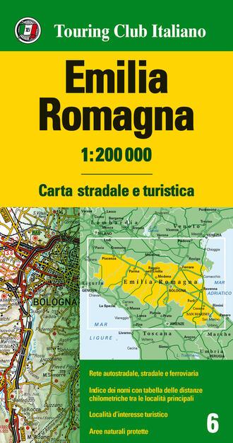Cartina Geografica Emilia Romagna E Toscana.Emilia Romagna 1 200 000 Carta Stradale E Turistica Ediz Multilingue Libro Touring Carte Regionali 1 200 000 Ibs