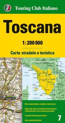 Ristorantezintonio.it Toscana 1:200.000. Carta stradale e turistica Image