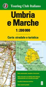 Foto Cover di Umbria e Marche 1:200.000, Libro di  edito da Touring