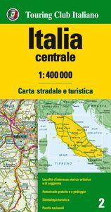 Foto Cover di Italia centrale 1:400.000. Carta stradale e turistica, Libro di  edito da Touring