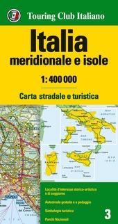 Italia meridionale e isole 1:400.000. Carta stradale e turistica