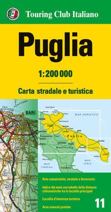 Nordestcaffeisola.it Puglia 1:200.000. Carta stradale e turistica Image