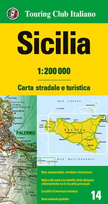 Daddyswing.es Sicilia 1:200.000. Carta stradale e turistica Image