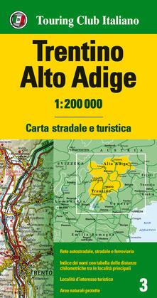 Steamcon.it Trentino Alto Adige 1:200.000. Carta stradale e turistica. Ediz. multilingue Image