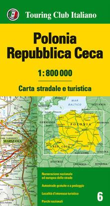 Voluntariadobaleares2014.es Polonia, Repubblica Ceca 1:800.000. Carta stradale e turistica. Ediz. multilingue Image