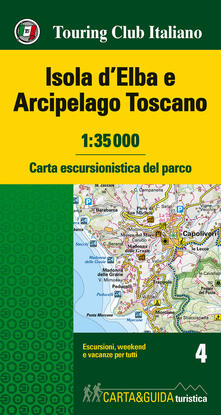 Amatigota.it Isola d'Elba e Arcipelago toscano. Carta escursionistica del parco. 1:35.000 Image