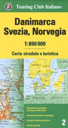 Mercatinidinataletorino.it Danimarca, Svezia, Norvegia 1:800.000. Carta stradale e turistica. Ediz. multilingue Image