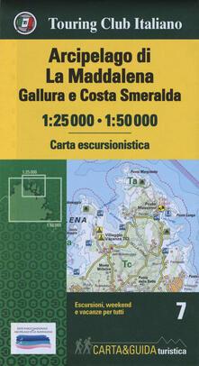 Recuperandoiltempo.it Arcipelago di La Maddalena, Gallura e Costa Smeralda 1:25.000-1:50.000. Con Guida al parco Image